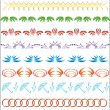 Set of vector ornaments for the design — Stock Vector