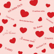 Seamless vector texture with hearts - Stock Vector