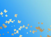 Blue background with butterflies — Stock Photo
