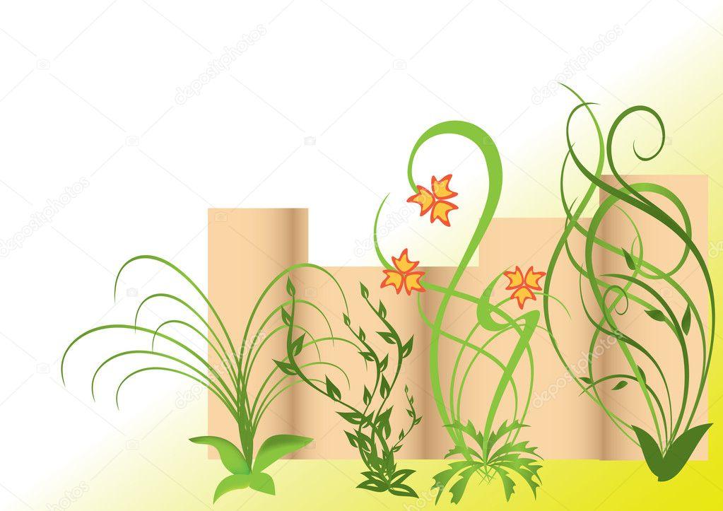 矢量背景 lakalla  向日葵的字段
