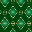Seamless vector dark green texture with rhombuses — Stock Vector