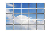 Illustration of screens with sky — Stock Photo