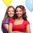 Girlfriends and balloons — Stock Photo #2903056