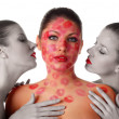Royalty-Free Stock Photo: Three naked women