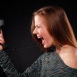 Woman with telephone receiver — Stock Photo #2904366