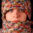 Royalty-Free Stock Photo: Woman wool scarf