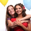 Stock Photo: Girlfriends and balloons