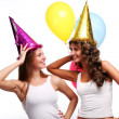 Party girlfriends - Stock Photo