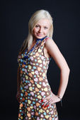 Smiling blondie — Stockfoto