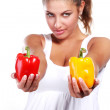 Stock Photo: Woman and pepper