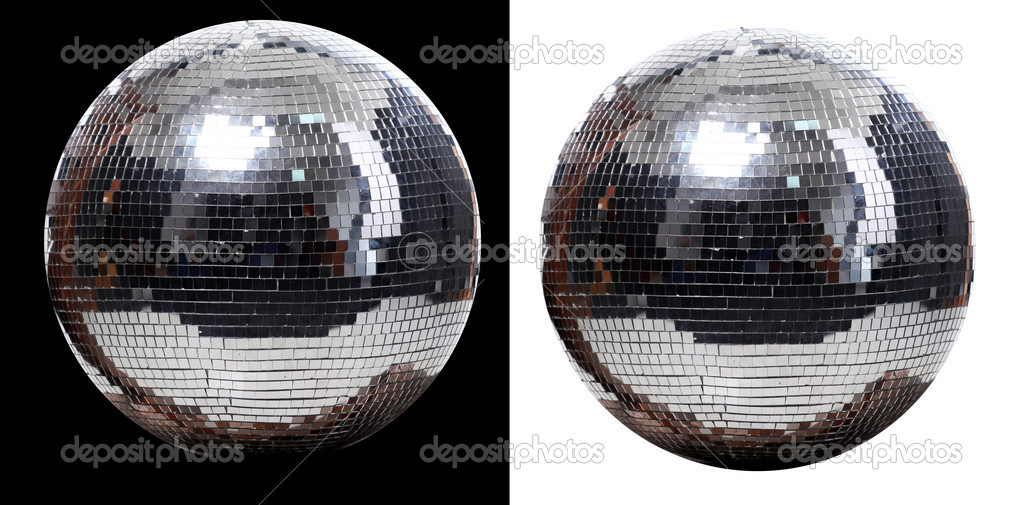 Picture of two disco ball at black and white  background — Stock Photo #2980249