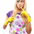 Housewife and knife — Stock Photo #3172119