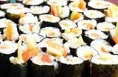 Japanese sushi background — Stock Photo