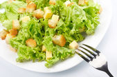 Close-up of salad on white plate — Stock Photo