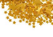 золотые звезды, изолированные на белом фоне — Стоковое фото