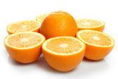 Orange halves — Stock Photo