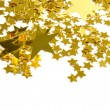 Golden stars isolated on white background — Stok Fotoğraf #3707629