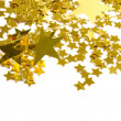 Stock Photo: Golden stars isolated on white background