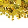 Golden stars isolated on white background — Stockfoto #3709273