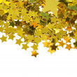 Golden stars isolated on white background — стоковое фото #3709273