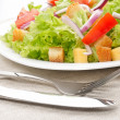 Salad on white plate — 图库照片