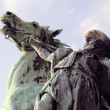 Equestrian statue — Stock Photo
