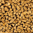 Beautifully combined birch fire wood — Stock Photo