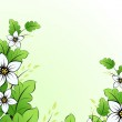 Flower background with leaves — Stock Vector