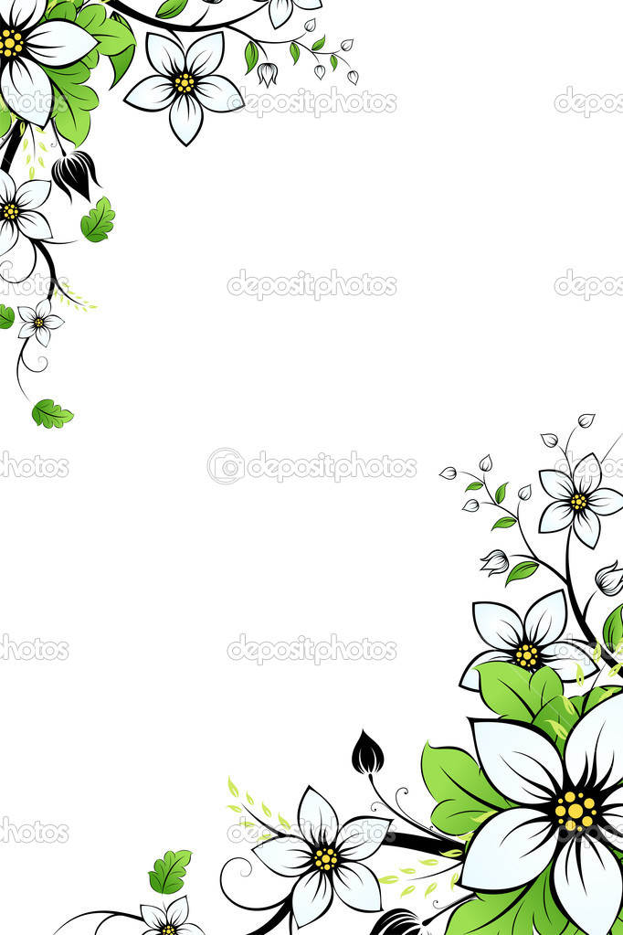 Abstract Background with flowers and leaves for your design — Stock Vector #3152729