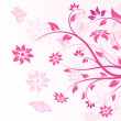 Vector flowers in pink — Stock Vector