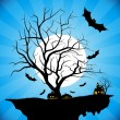 Stock Vector: Halloween night