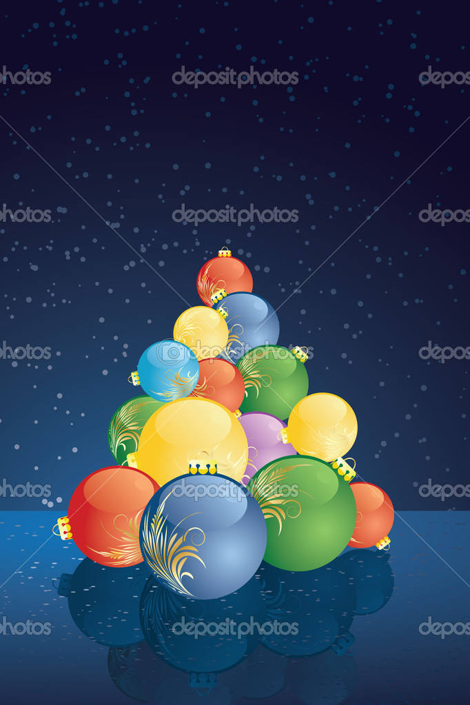 Christmas background with balls for your design — Stock Vector #3801053