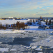 Icy Baltic sea Helsinki — Stock Photo