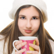 Young girl in winter outfit — Stock Photo