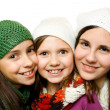 Three young girls — Foto de Stock