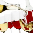 Stock Photo: Red and white wine