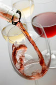 Red and white wine — Stock Photo