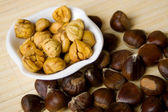 Chestnuts in a bowl — Stock Photo