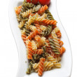 Italian tricolore pasta - Stock Photo