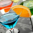 Blue cocktail drink - Stock Photo