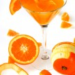 Orange juice isolated on white — Stock Photo