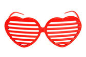 Heart-shaped grille shades — Stock Photo