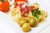 Italian fettuccine pasta — Stock Photo