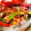 Mixed vegetable salad — Stock Photo
