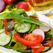 Fresh spring vegetable salad — Stock Photo