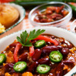 Mexican chili con carne — Stock Photo