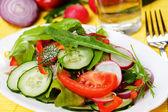 Färsk våren grönsakssallad — Stockfoto