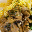 Mushrooms with pasta — Stock Photo #3468512