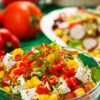 Stock Photo: Delicious cheese salad