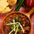Mexican chili beans — Stock Photo